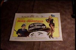 Sheriff Of Fractured Jaw 1959 Half Sheet 22x28 Movie Poster Jayne Mansfield