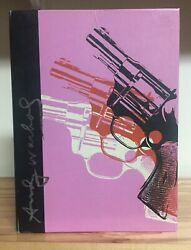 Andy Warhol Spiral-bound Ruled Lined Journal Gun Print Colorful Camo Very Good