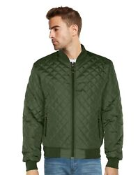 9 Crowns Menand039s Quilted Bomber Jacket