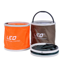 Folding Canvas Water Bucket Fishing Hiking Camping Picnic Outdoor Storage $9.91