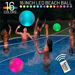 Eyewalk Inflatable Pool Float Toy 16and39and39 Led Beach Ball Color Glow Light Up