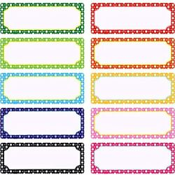 50 Pieces Magnetic Name Plates Dry Erase Labels White Board Nameplates Tags For