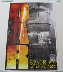 Oar Full Band Signed Autograph Le Concert Tour Poster - Pittsburgh 7/27/12 Psa