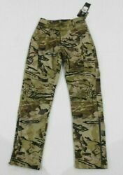 Under Armour Storm Barren Camo Hunting Pants 1316698 999 Womens Sz 4 New W/tags