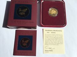 2000 100 Gold Proof Floral Emblems Of Queensland Cooktown Orchid Andndash Rare Series