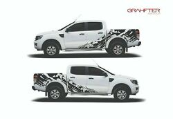 Decal Graphic Side Stripe Kit For Ford Ranger Multiple Colors Black Or Grey