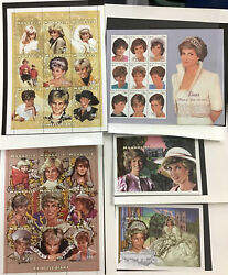 Princess Diana Collection From Mystic Stamp Company Mint Sheets And Strips