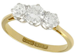 Antique 0.75ct Diamond And 18k Yellow Gold Three-stone Engagement Ring
