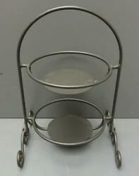 Longaberger Wrought Iron 2-tier 13 Pie Plate Stand For 6 Mini Pie Plates