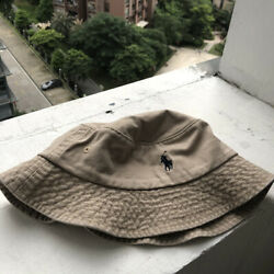 Bucket Hat Polo Casual Style Beige Nubuck Leisure $16.49