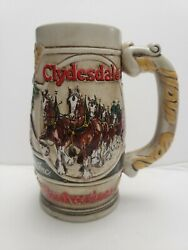 Ceramarte Budweiser Hand-crafted Holiday Clydesdales Collectors Mug.