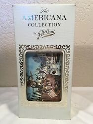 Vintage Jw Dant Americana Bourbon Whiskey Bottle Collection In Box