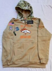 Nike Denver Broncos 2019 Salute To Service Therma Hoodie Sz Xl At6729 297