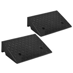 2 Pcs 5 Rubber Car Curb Ramps For Vehicle Wheelchair Threshold Home 33000lbs