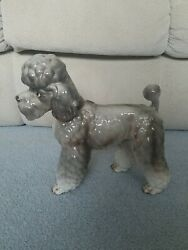 Kennel Club 10 1/4 Shafford Salty Poodle Dog Sculpture Figurine Japan 1950and039s