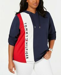 New Tommy Hilfiger Womens Sport Plus Size Logo Hoodie Choose Size MSRP $59.50 $25.95