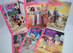 Vintage Barbie N Friends 6 Ea. Books Antiquarian Childrens Toys Or Collectables