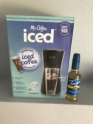 Mr.coffee Iced Coffee Maker Black With French Vanilla Syrup