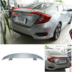 For Honda Civic 2016-2020 Rear Spoiler Tail Gt Airplane Wing Bar 1pcs Abs Silver