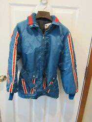Vintage 60's 70's Polaris Red White And Blue Snowmobile Jacket Coat Adult Sz Large