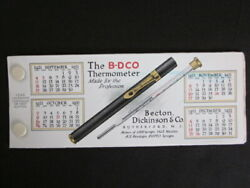 1921 Rutherford Nj B-d Thermometer Medical Advertising Celluloid Ink Blotter