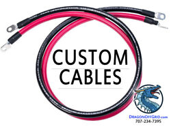 Custom Length Battery Cable, 10 8 6 4 2 1 1/0 2/0 4/0 Awg Gauge With Lugs, Wire