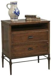 Chest Of Drawers Port Eliot Paneled Sides Collectorandrsquos Oak Wood Iron 2-