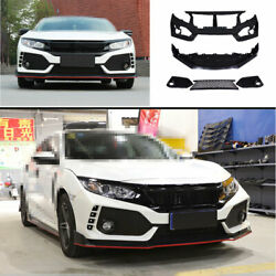 Fit For Honda Civic Type-r 2016-2020 Front Skid Plate Bumper Board Guard Primer