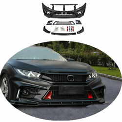 Fit For Honda Civic Fc-450 2016-20 Unpainted Front Skid Plate Bumper Board Guard