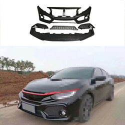 Front Skid Plate Bumper Board Guard Fit For Honda Civic Si 2016-2020 Unpainted