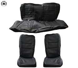 Seat Covers Universal Covers Side Fairing For Vw Beetle 1200 1.2 1960-76 Schwarz