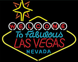 Welcome To Las Vegas Nevada 24x20 Neon Sign Lamp Light Beer Bar With Dimmer