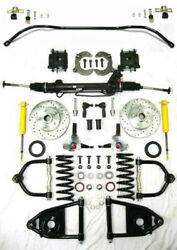Mustang Ii Complete Power Front End Suspension Kit Stock Sway Bar No Crossmember