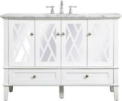 Bathroom Vanity Sink Contemporary Single White Clear Brushed Nickel Brass