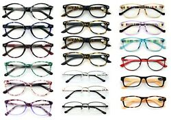 NEW 10 Pairs of Closeout Reading Glasses Your Choice in Power and Gender Bulk $12.95