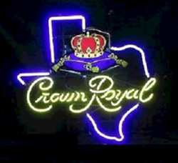 Crown Royal Texas Whiskey 24x20 Neon Sign Light Lamp Decor With Dimmer