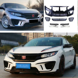Front Skid Plate Bumper Board Guard Fit For Honda Civic Ms 2016-2020 Unpainted