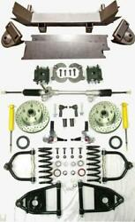 1955 - 1959 Chevy Truck Mustang Ii Manual Front End Suspension Kit Ifs Stock
