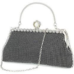 Black Clutch Purses For Women Evening Bags And Clutches Handbags Purse Black $40.99