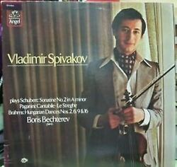 Plays Schubert Paganini And Brahms Lp Us 1979 Vladimir Spivakov