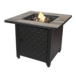Endless Summer Propane Gas Fire Table With Stamped Steel Base