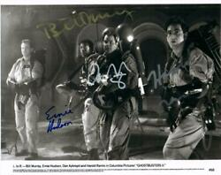 Bill Murray Dan Aykroyd Ramis Hudson Signed 8x10 Photo Autographed Picture