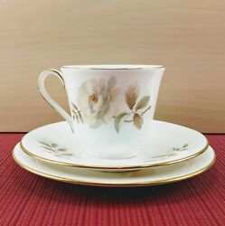 Royal Doulton Yorkshire Rose Tea Cup / Teacup And Saucer Trio Never Used H5050