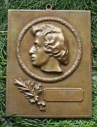 Poland, Polish Large Plaque With The Image Of F.f. Chopin.