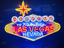 Welcome To Las Vegas Nevada 24x20 Neon Light Sign Hd Vivid With Dimmer