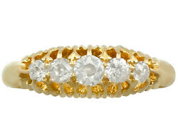 0.56 Ct Diamond And 18carat Yellow Gold Dress Ring - Antique 1905 Size P 1/2