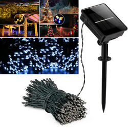 Solar Powered Christmas String Fairy Light Waterproof Garden Party Outdoor Decor