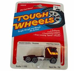 Kidco Tough Wheels Diecast Toy Car Truck Vtg Moc 1981 Pacer Cabover 116-2 Semi