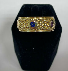 The Infinity Stones Ring In 18k Yellow Gold With 6 Gemstones, Made In Usa