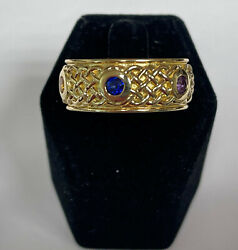 The Infinity Stones Ring In 10k Yellow Gold With 6 Gemstones Made In Usa